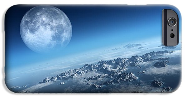 Moon iPhone Cases - Earth icy ocean aerial view iPhone Case by Johan Swanepoel