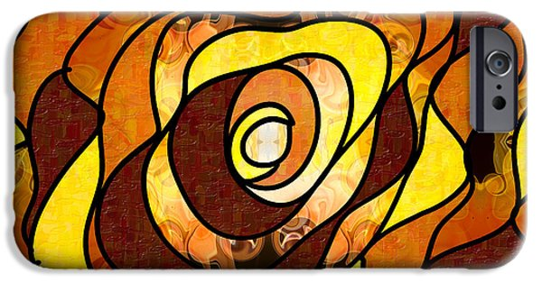 Earth Tones Drawings iPhone Cases - Earthly Dimensions Abstract Organic Art by Omaste Witkowski iPhone Case by Omaste Witkowski