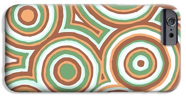 Earth Tones Drawings iPhone Cases - Earthy Drops iPhone Case by Jill Lenzmeier