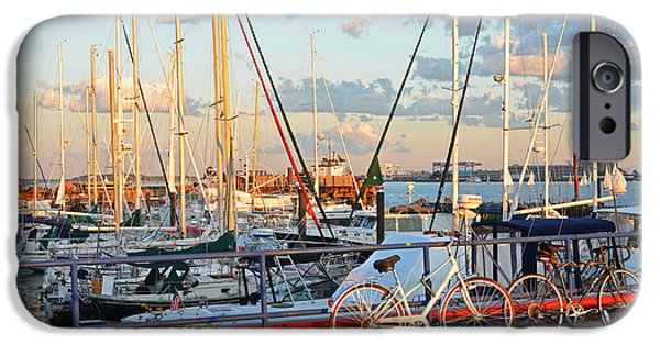 Boston Ma Digital iPhone Cases - East Boston Boats Boston MA Piers Point Park iPhone Case by Toby McGuire