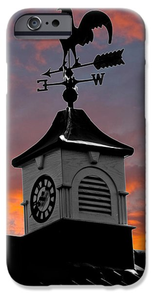 Weathervane Photographs iPhone Cases - East by South iPhone Case by Brian Roscorla