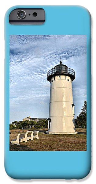 Lighthouse iPhone Cases - East Chop Light iPhone Case by Marnie Malone