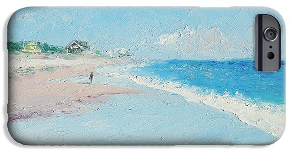 York Beach iPhone Cases - East Hampton Beach iPhone Case by Jan Matson