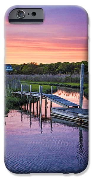 Recently Sold -  - Creek iPhone Cases - East Moriches Sunset iPhone Case by Robert Seifert