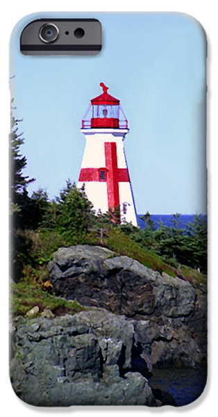 East Quoddy Lighthouse iPhone Cases - East Quoddy Lighthouse iPhone Case by Martin Massari