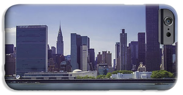 Empire State iPhone Cases - East River View iPhone Case by Theodore Jones