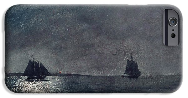 Sailboat Ocean iPhone Cases - Eastern Point Light iPhone Case by Winslow Homer