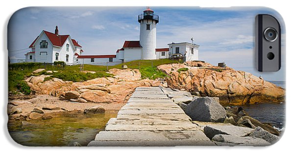 Lighthouse iPhone Cases - Eastern Point Lighthouse iPhone Case by Emmanuel Panagiotakis