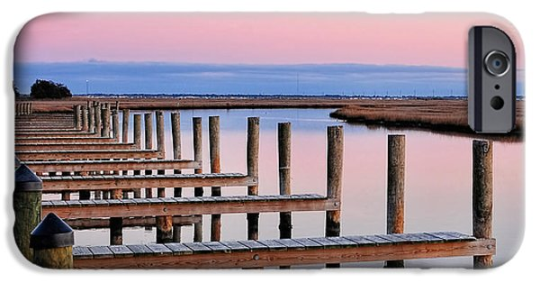 Tidal Creek iPhone Cases - Eastern Shore On The Docks iPhone Case by Lara Ellis