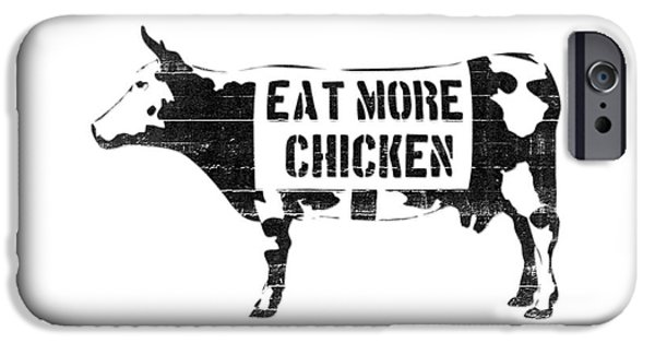 Chimp Digital iPhone Cases - Eat more chicken iPhone Case by Pixel  Chimp