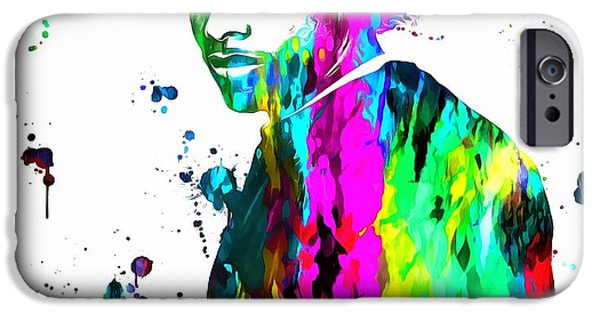 Recently Sold -  - Police iPhone Cases - Eazy E Paint Splatter iPhone Case by Dan Sproul