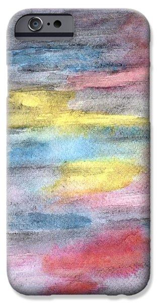 Ebony Rainbow iPhone Case by Mary Zimmerman