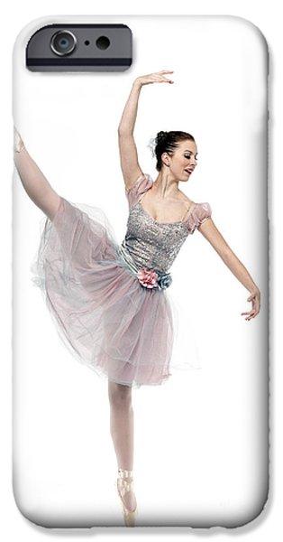 Ballet Dancers iPhone Cases - Ecarte - D009505 iPhone Case by Daniel Dempster