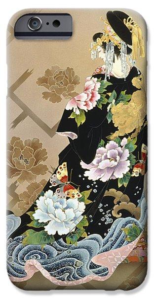 Fawn iPhone Cases - Echigo Dojouji iPhone Case by Haruyo Morita