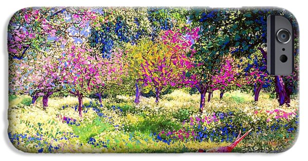 Apple Trees iPhone Cases - Echoes from Heaven iPhone Case by Jane Small