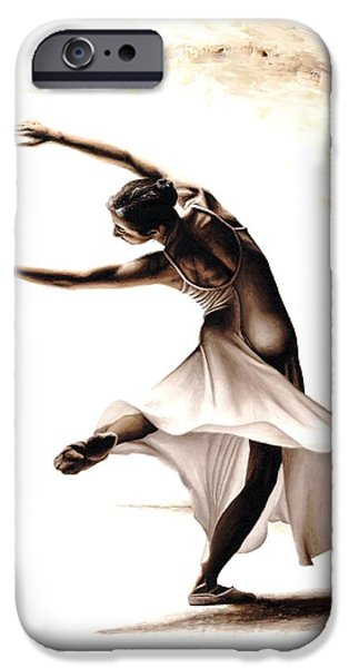 White Dress iPhone Cases - Eclectic Dancer iPhone Case by Richard Young