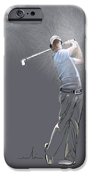 Us Open Drawings iPhone Cases - Eclipse iPhone Case by Miki De Goodaboom