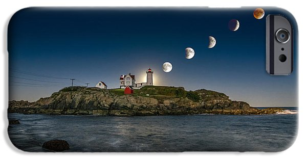 Lighthouse iPhone Cases - Eclipsing the Nubble iPhone Case by Scott Thorp