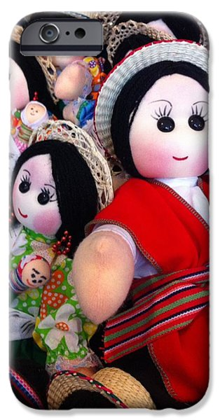 Toy Store iPhone Cases - Ecuadorian Dolls iPhone Case by Monia Lisa