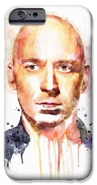 Celebrities Art iPhone Cases - Ed Kowalczyk iPhone Case by Marian Voicu