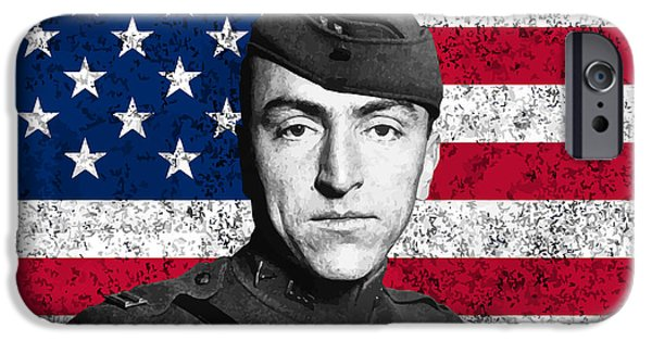 Honor iPhone Cases - Eddie Rickenbacker and The American Flag iPhone Case by War Is Hell Store
