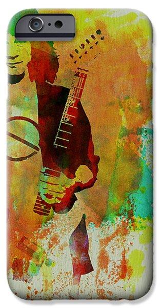 British Portraits iPhone Cases - Eddie Van Halen iPhone Case by Naxart Studio