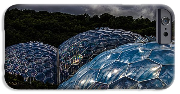 Strange iPhone Cases - Eden Project Cornwall iPhone Case by Martin Newman