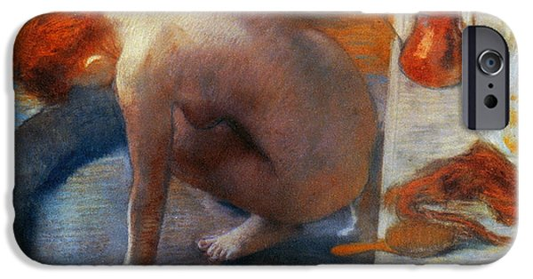 Bathing iPhone Cases - Edgar Degas: The Tub, 1886 iPhone Case by Granger