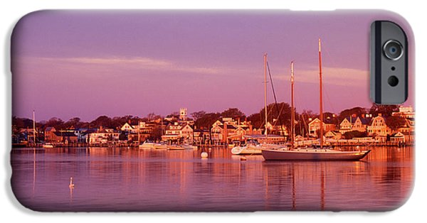 Martha iPhone Cases - Edgartown Harbor iPhone Case by John Burk