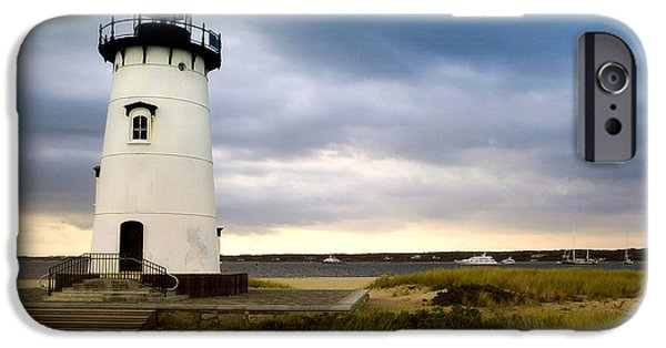New England Lighthouse iPhone Cases - Edgartown Lighthouse Cape Cod iPhone Case by Matt Suess