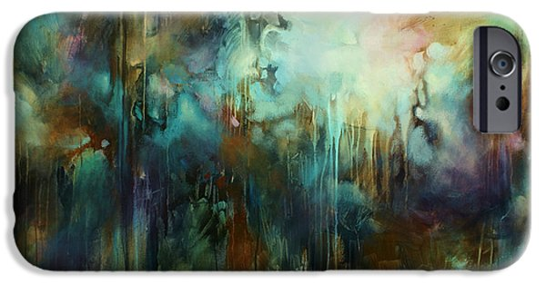 Dark Energy Paintings iPhone Cases - Edge of Dreams iPhone Case by Michael Lang
