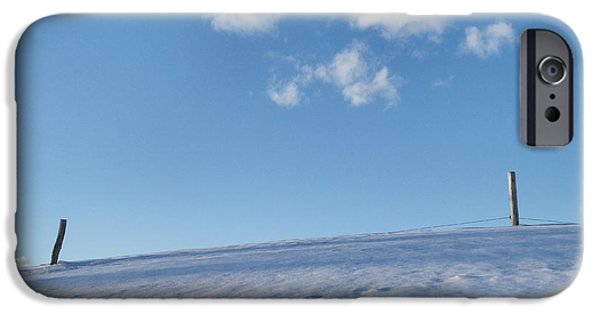 Drifting Snow Photographs iPhone Cases - Edge of Winter 2 iPhone Case by Mark J Curran