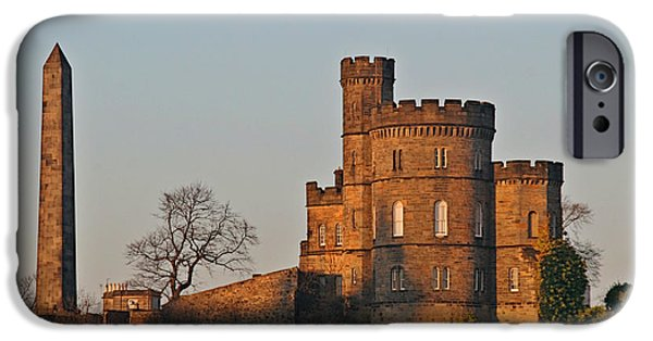 Christine Till iPhone Cases - Edinburgh Scotland - Governors House and Obelisk Calton Hill iPhone Case by Christine Till