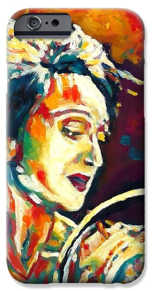 Edith Piaf- La Mome iPhone Case by Vel Verrept