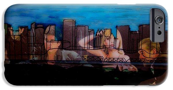 Al Pacino iPhone Cases - Edmonton Landscape 1 iPhone Case by Kim Peto