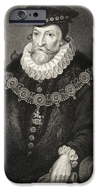 Lincoln iPhone Cases - Edward Clinton 1512-1584. Earl Of iPhone Case by Ken Welsh