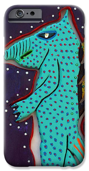EDWARD THE WALKING ARDVARK iPhone Case by Robert Margetts