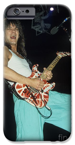 Edward iPhone Cases - Edward Van Halen  iPhone Case by Rich Fuscia