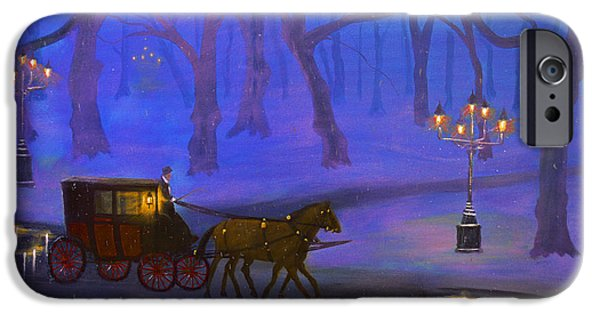 Snowy Night iPhone Cases - Eerie Evening 2 iPhone Case by Ken Figurski