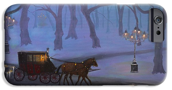 Snowy Night iPhone Cases - Eerie Evening iPhone Case by Ken Figurski