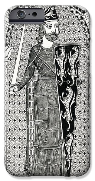 Maine Drawings iPhone Cases - Effigy Of Geoffry Plantagenet, From His iPhone Case by Ken Welsh