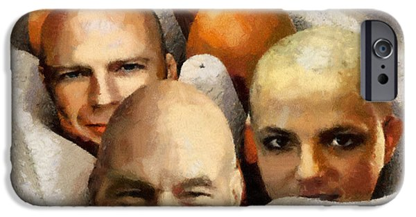 Caruso iPhone Cases - Eggheads iPhone Case by Anthony Caruso
