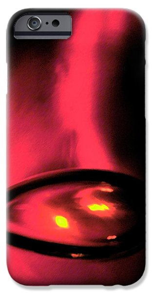 Abstract Digital Glass Art iPhone Cases - Eggy iPhone Case by Uleria Caramel
