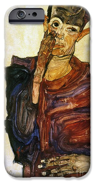 Painter Photographs iPhone Cases - Egon Schiele (1890-1918) iPhone Case by Granger
