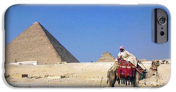 Pyramids Greeting Cards iPhone Cases - Egypt - Pyramid iPhone Case by Munir Alawi
