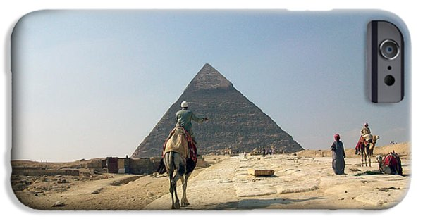 Pyramids Greeting Cards iPhone Cases - Egypt - Pyramid3 iPhone Case by Munir Alawi
