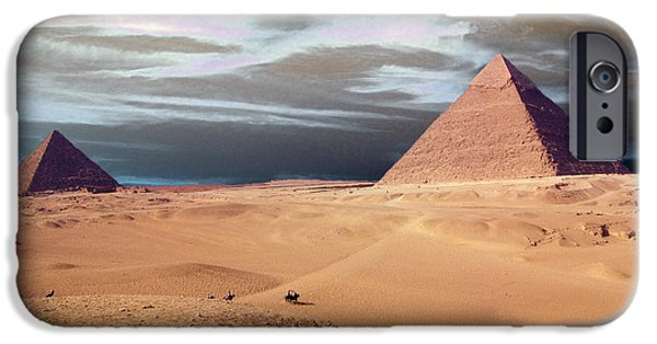 Pyramids Greeting Cards iPhone Cases - Egypt Eyes iPhone Case by Munir Alawi