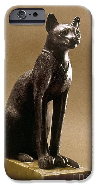 EGYPTIAN BRONZE STATUETTE iPhone Case by Granger