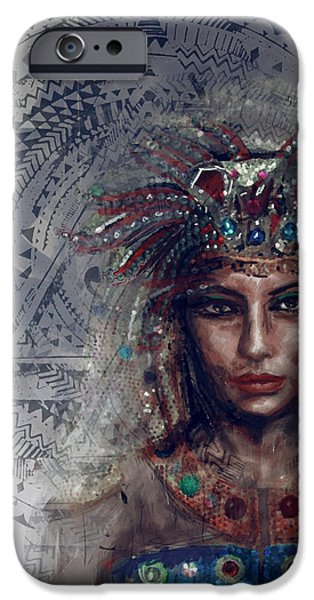 Cleopatra iPhone Cases - Egyptian Culture 19b iPhone Case by Mahnoor Shah