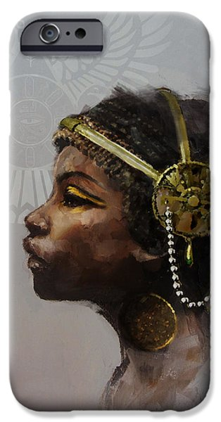 Cleopatra iPhone Cases - Egyptian Culture 20 iPhone Case by Maryam Mughal